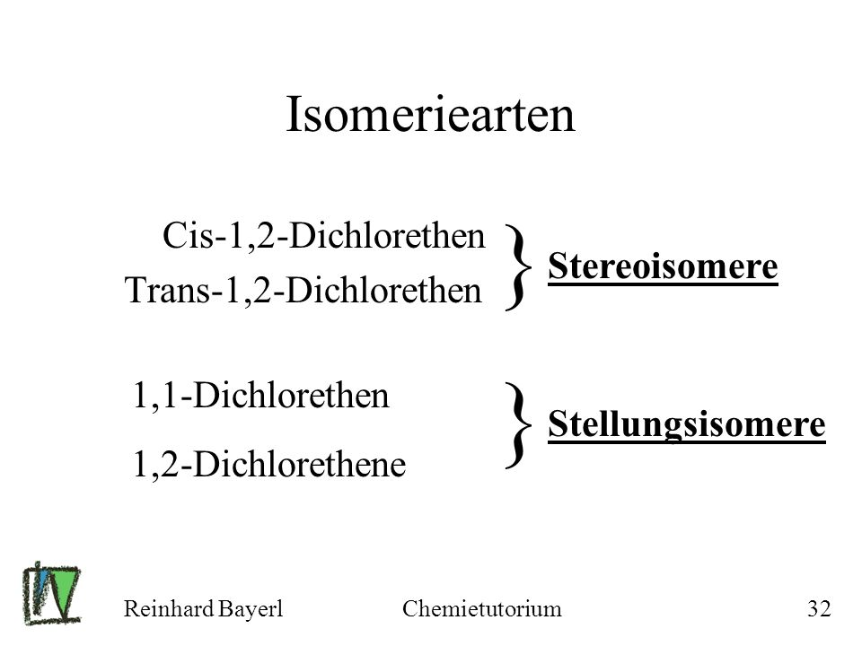 } } Isomeriearten Cis-1,2-Dichlorethen Trans-1,2-Dichlorethen