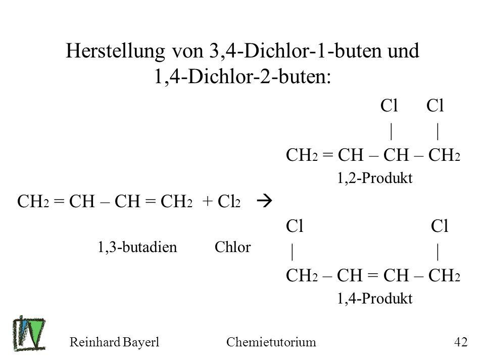 Herstellung von 3,4-Dichlor-1-buten und 1,4-Dichlor-2-buten: