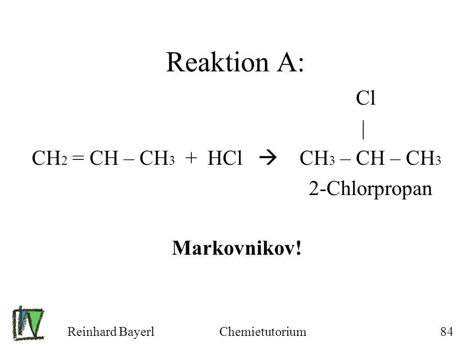 CH2 = CH – CH3 + HCl  CH3 – CH – CH3