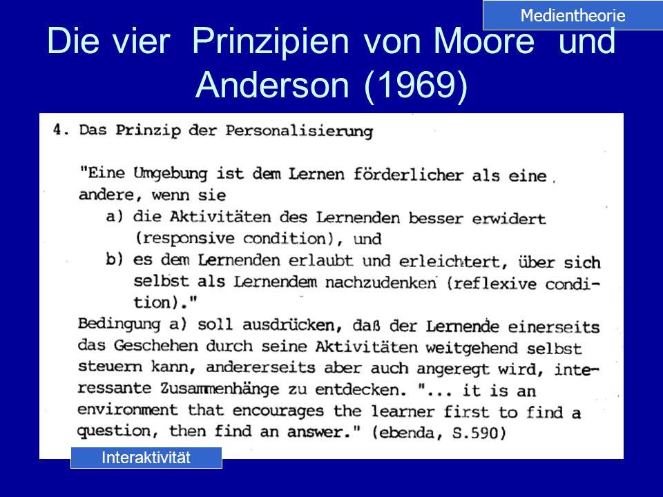 Die vier Prinzipien von Moore und Anderson (1969)