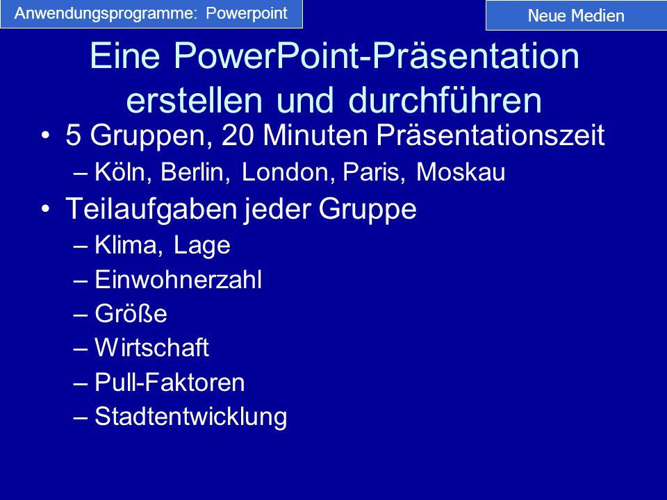 Eine PowerPoint-Präsentation erstellen und durchführen