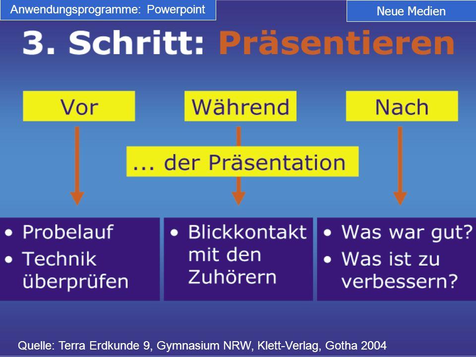 Anwendungsprogramme: Powerpoint
