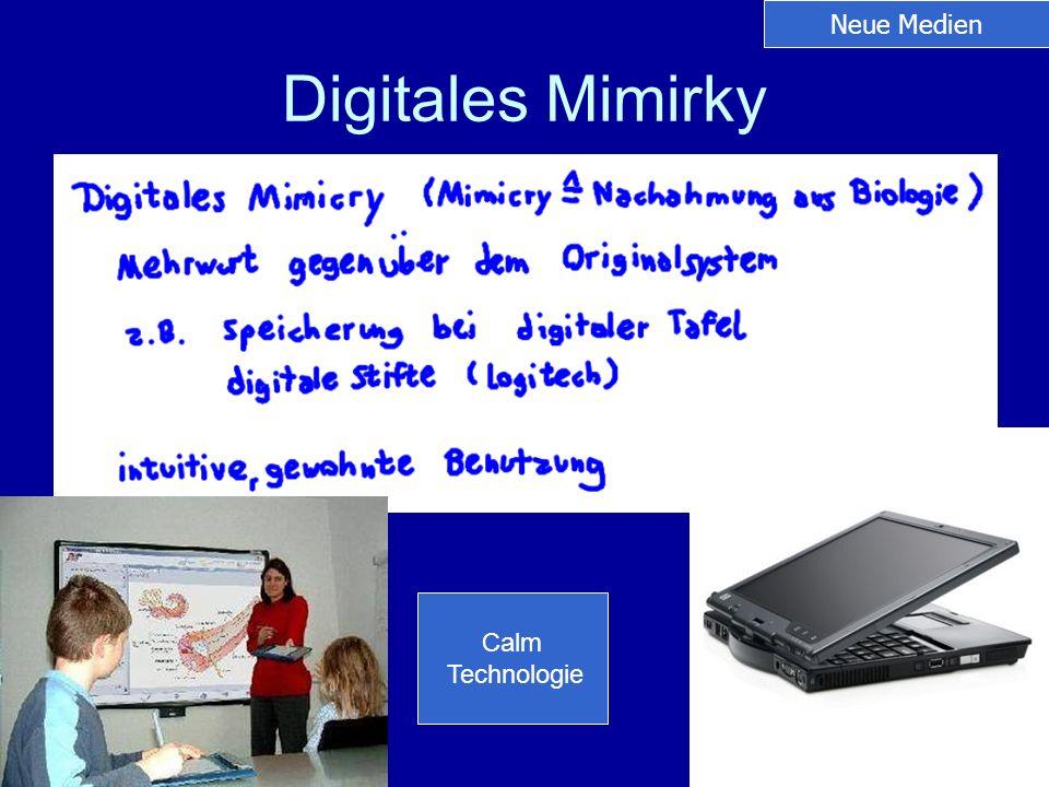 Neue Medien Digitales Mimirky Calm Technologie