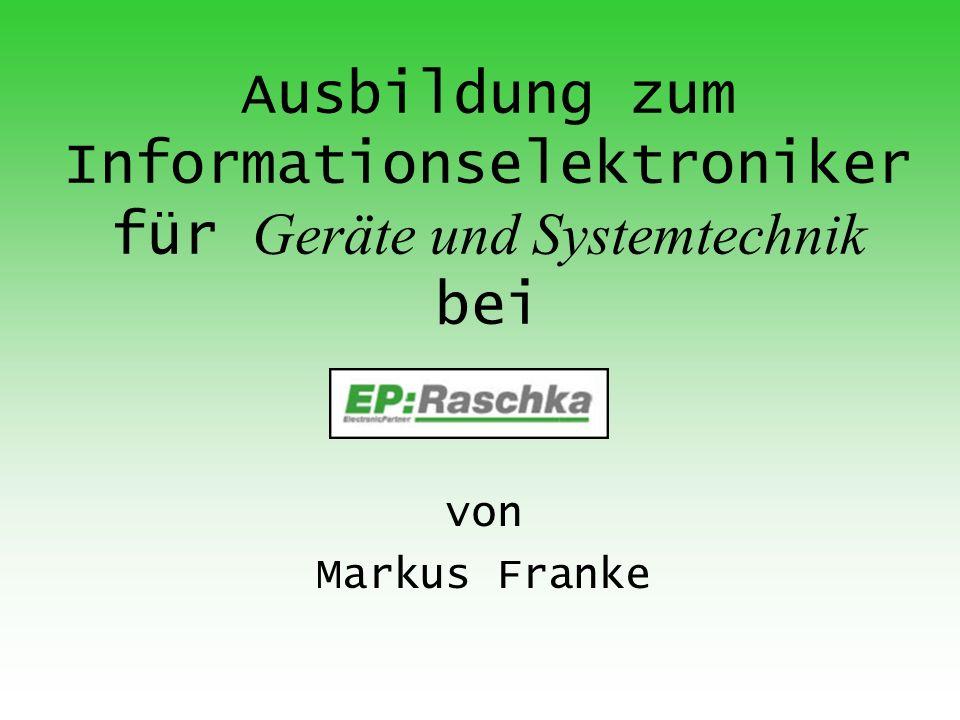 Ausbildung zum Informationselektroniker für Geräte und Systemtechnik bei