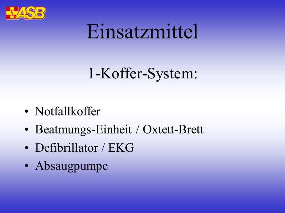 Einsatzmittel 1-Koffer-System: Notfallkoffer