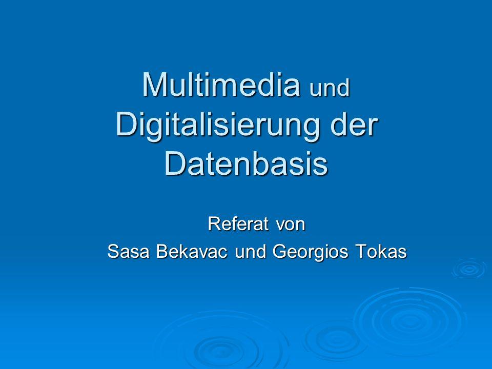 Multimedia und Digitalisierung der Datenbasis