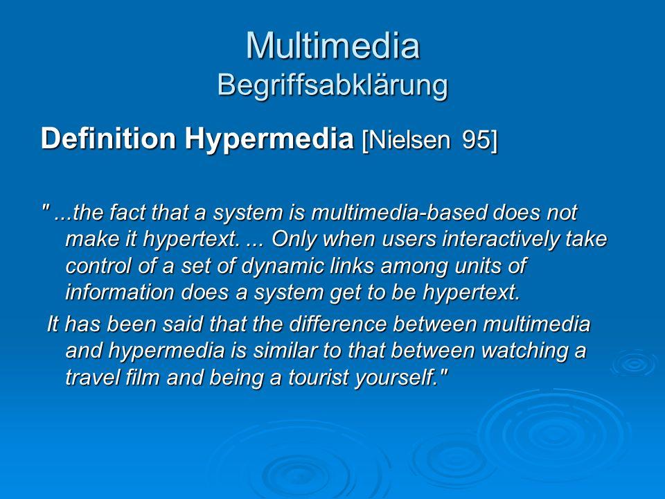 Multimedia Begriffsabklärung