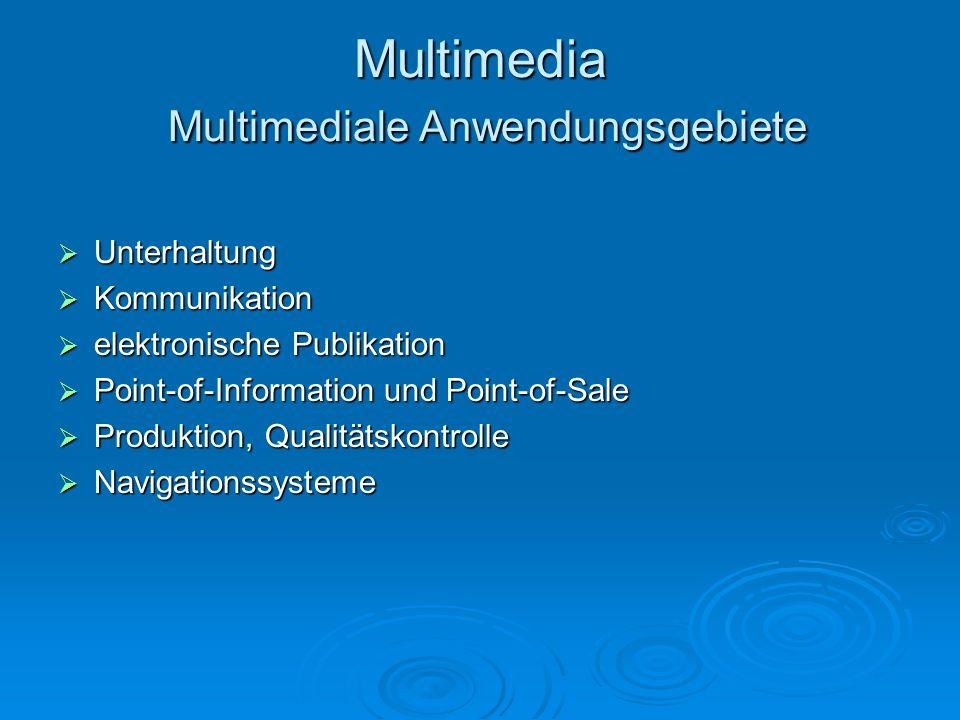 Multimedia Multimediale Anwendungsgebiete