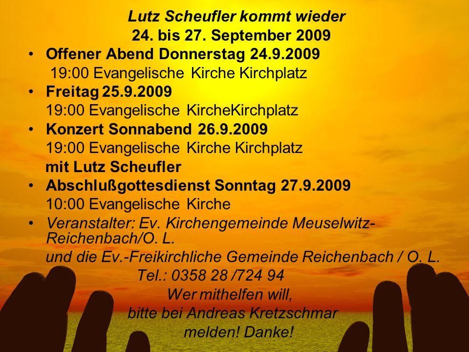 Lutz Scheufler kommt wieder