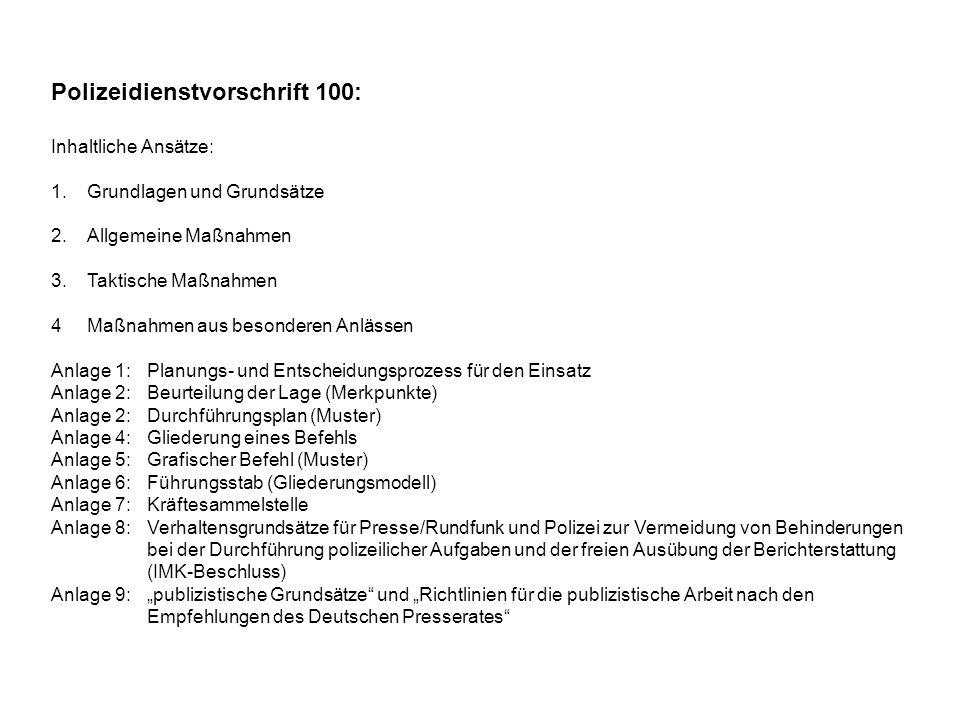 Polizeidienstvorschrift 100:
