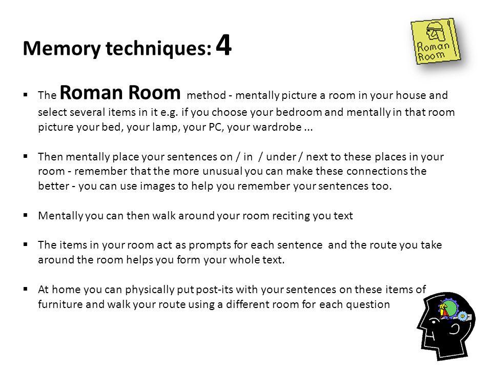Memory techniques: 4