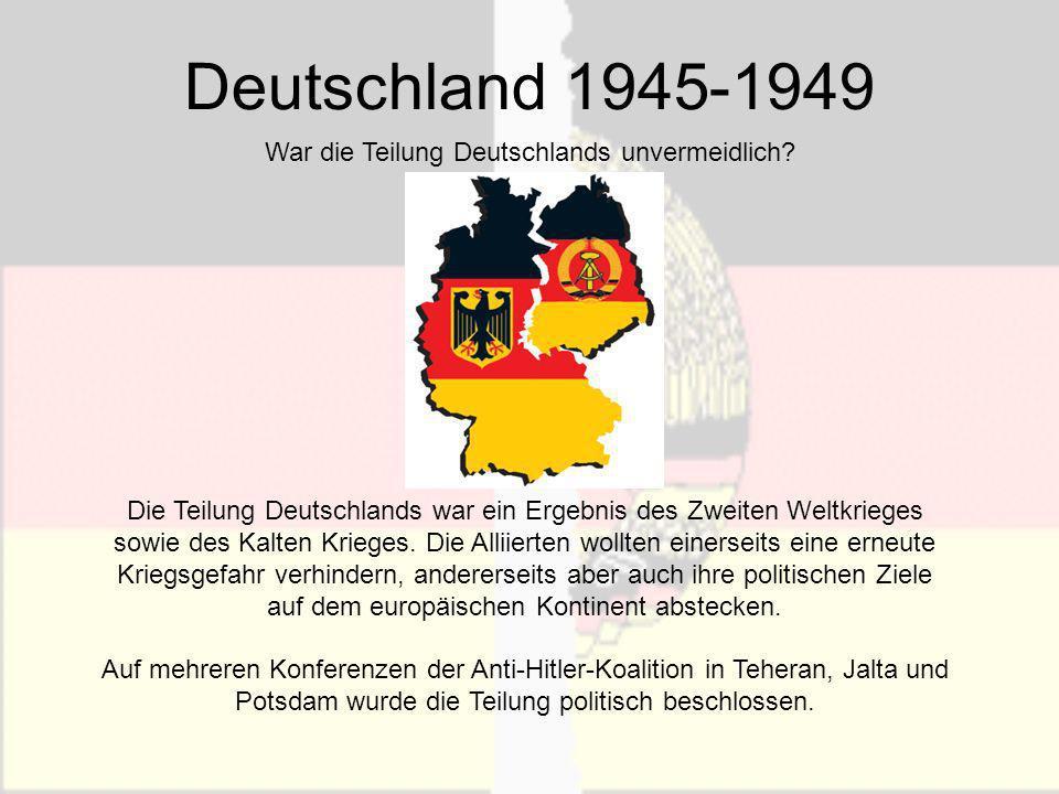 War die Teilung Deutschlands unvermeidlich