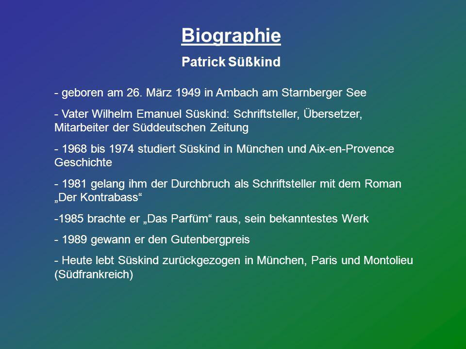 Biographie Patrick Süßkind