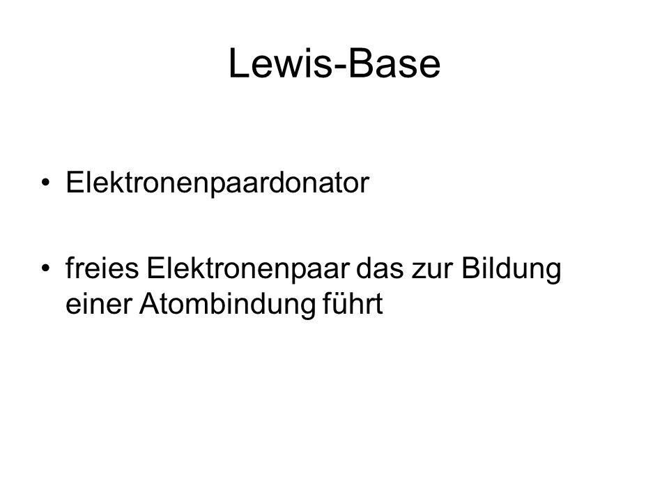 Lewis-Base Elektronenpaardonator