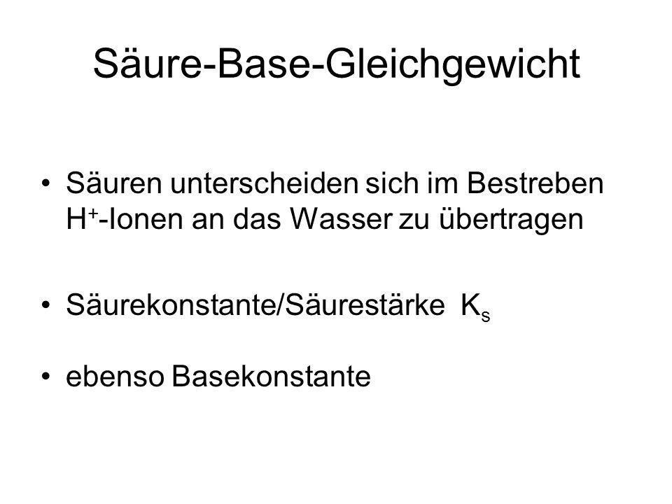 Säure-Base-Gleichgewicht