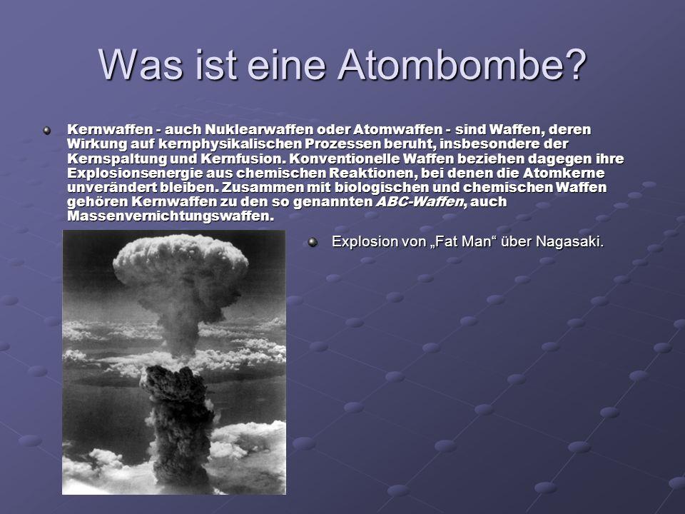 """Was ist eine Atombombe Explosion von """"Fat Man über Nagasaki."""