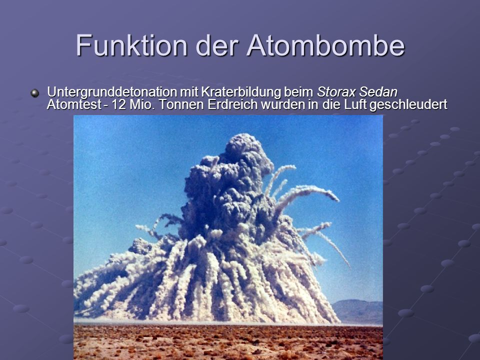 Funktion der Atombombe