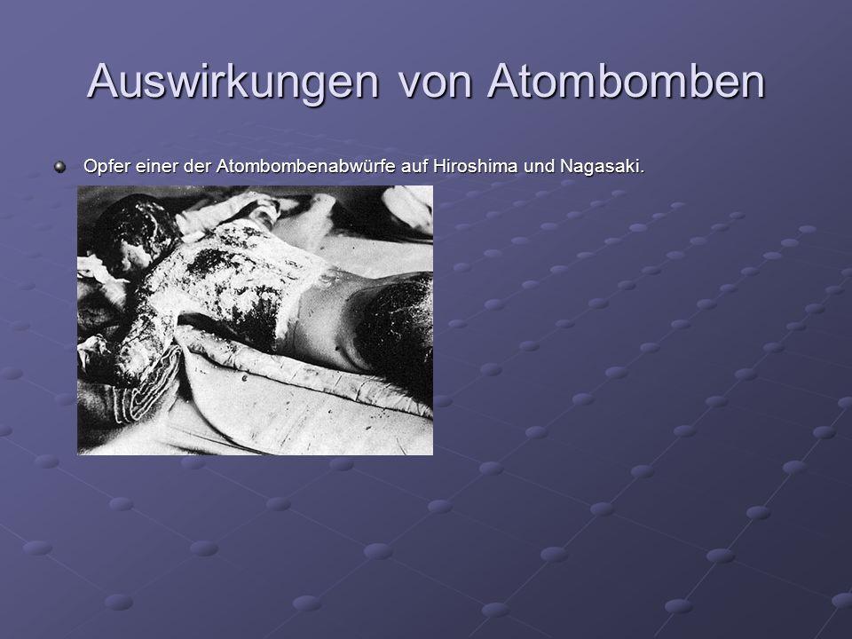 Auswirkungen von Atombomben