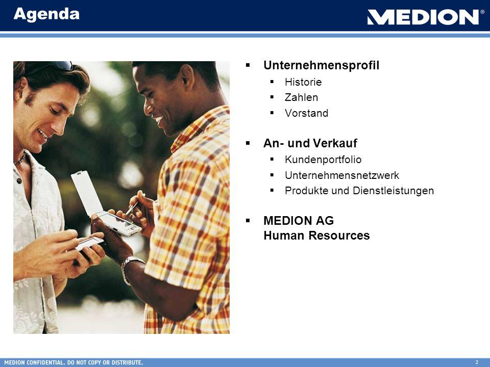 Agenda Unternehmensprofil An- und Verkauf MEDION AG Human Resources