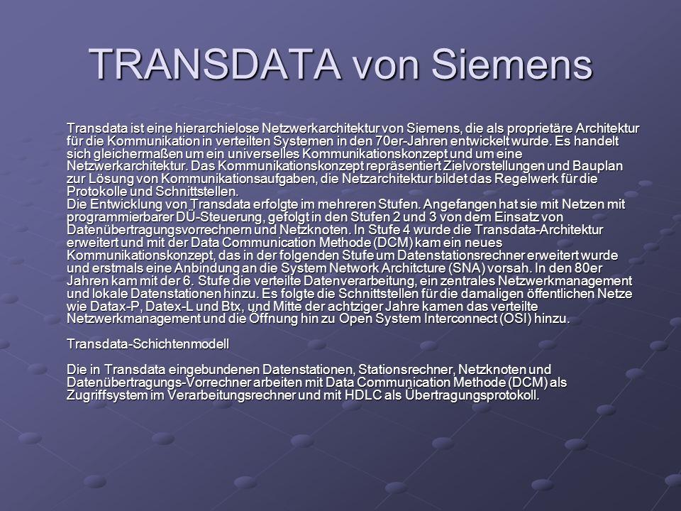 TRANSDATA von Siemens