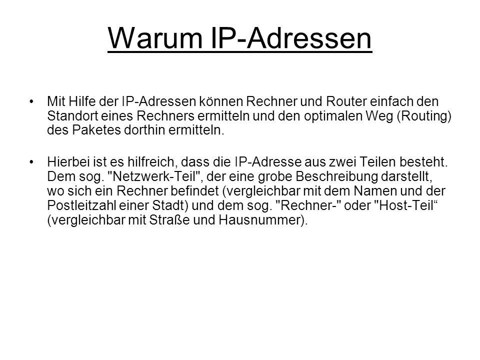 Warum IP-Adressen