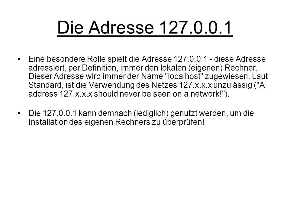 Die Adresse 127.0.0.1