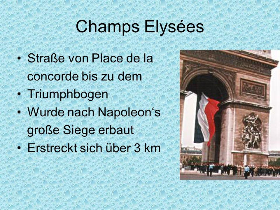 Champs Elysées Straße von Place de la concorde bis zu dem Triumphbogen