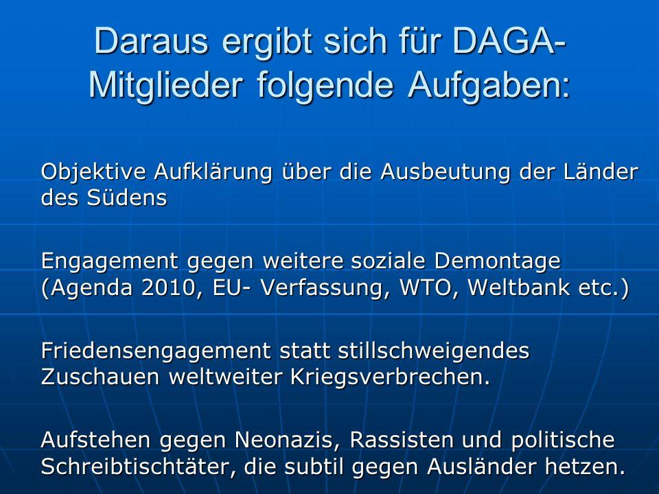 Daraus ergibt sich für DAGA-Mitglieder folgende Aufgaben: