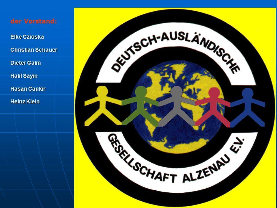 der Vorstand: Elke Czioska Christian Schauer Dieter Galm Halil Sayin