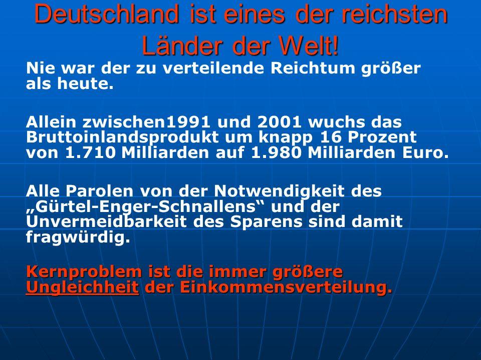 Deutschland ist eines der reichsten Länder der Welt!