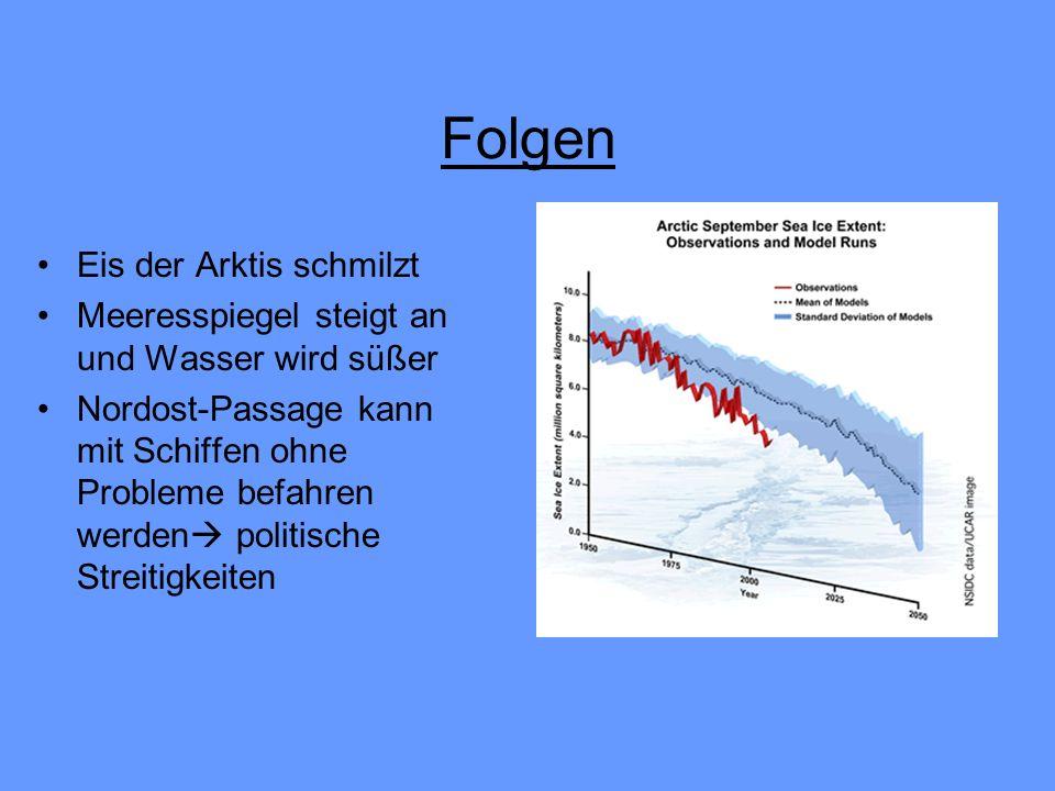 Folgen Eis der Arktis schmilzt