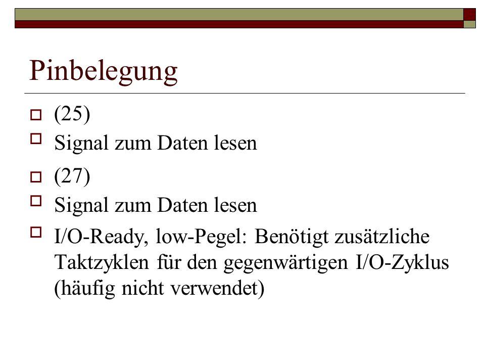Pinbelegung (25) Signal zum Daten lesen (27)