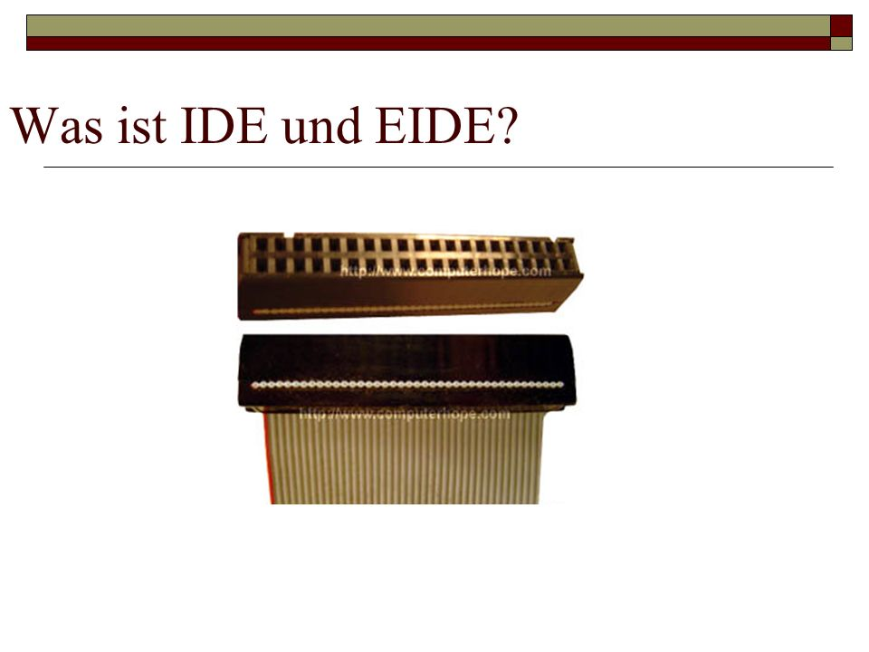 Was ist IDE und EIDE