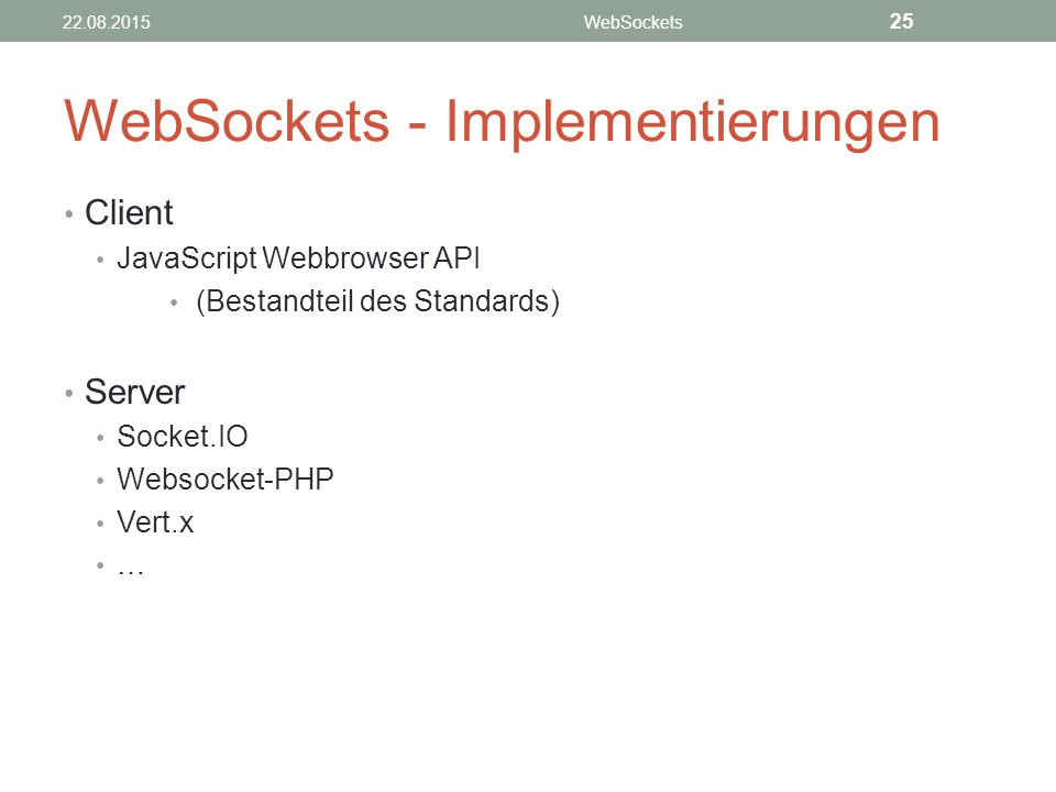 WebSockets - Implementierungen