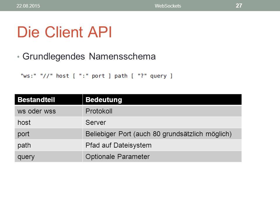 Die Client API Grundlegendes Namensschema Bestandteil Bedeutung