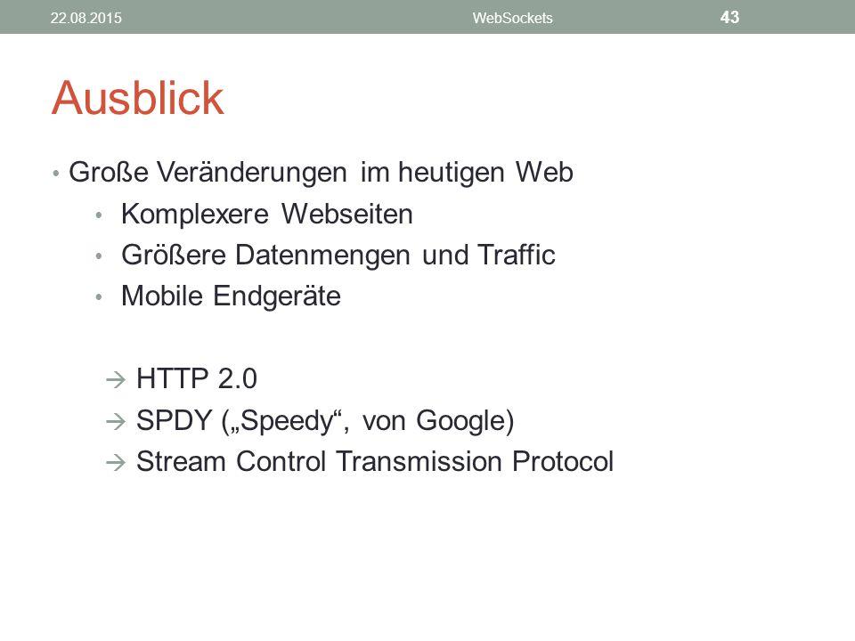 Ausblick Große Veränderungen im heutigen Web Komplexere Webseiten