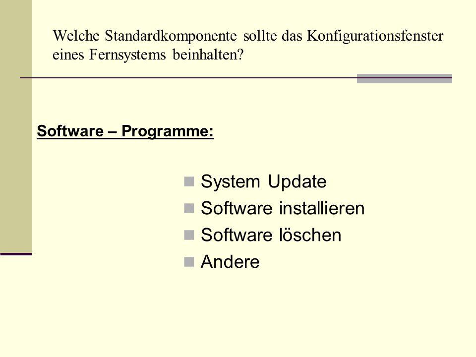 Software installieren Software löschen Andere