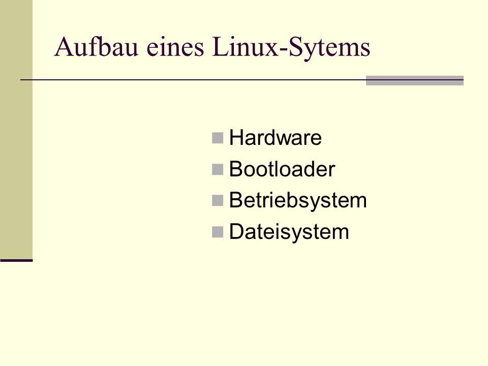 Aufbau eines Linux-Sytems