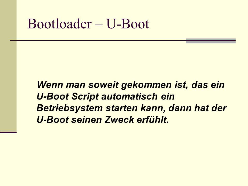 Bootloader – U-Boot