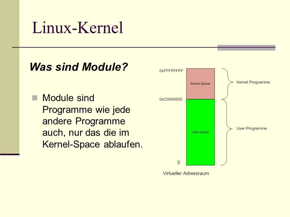 Linux-Kernel Was sind Module