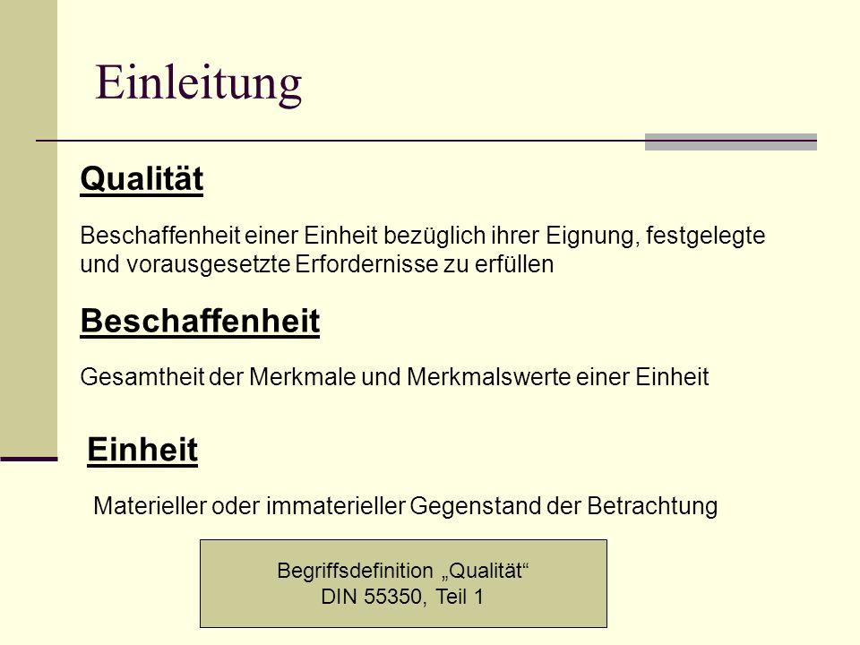"""Begriffsdefinition """"Qualität"""