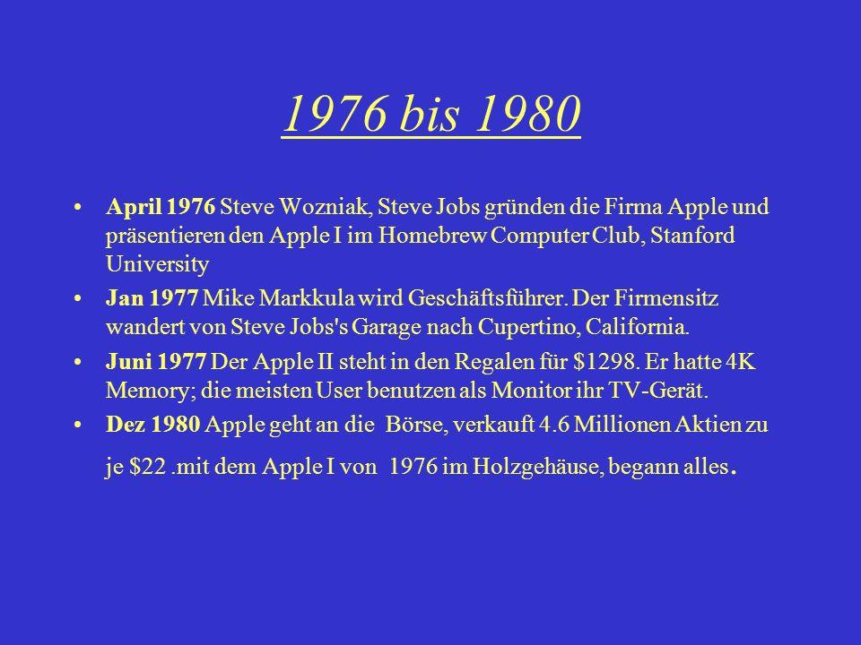 1976 bis 1980