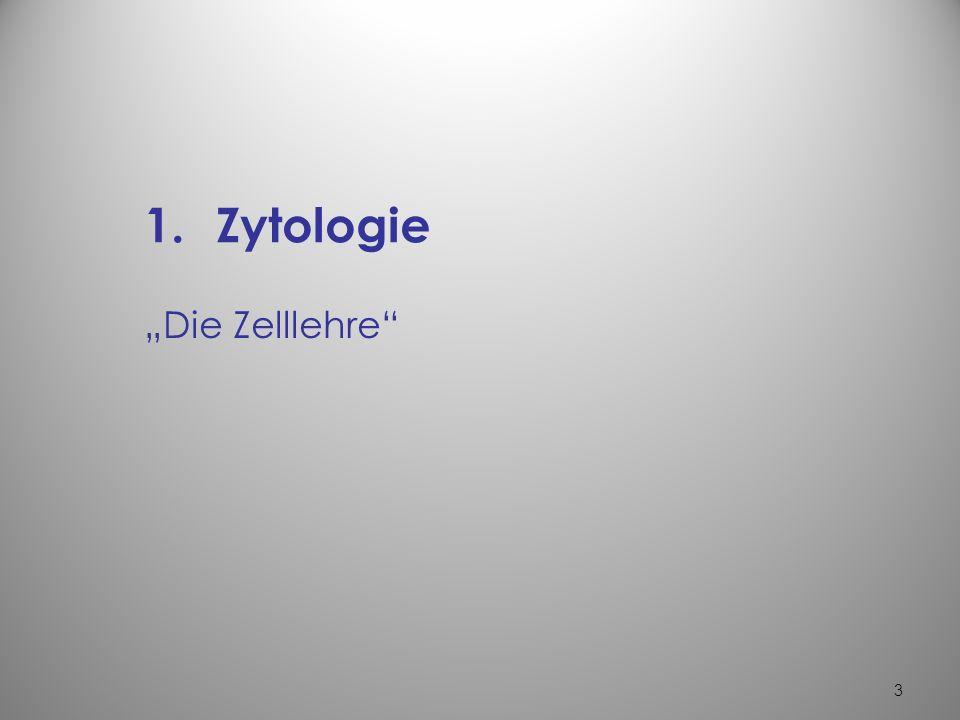 """Zytologie """"Die Zelllehre"""