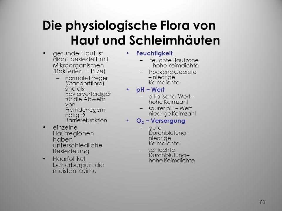 Die physiologische Flora von Haut und Schleimhäuten
