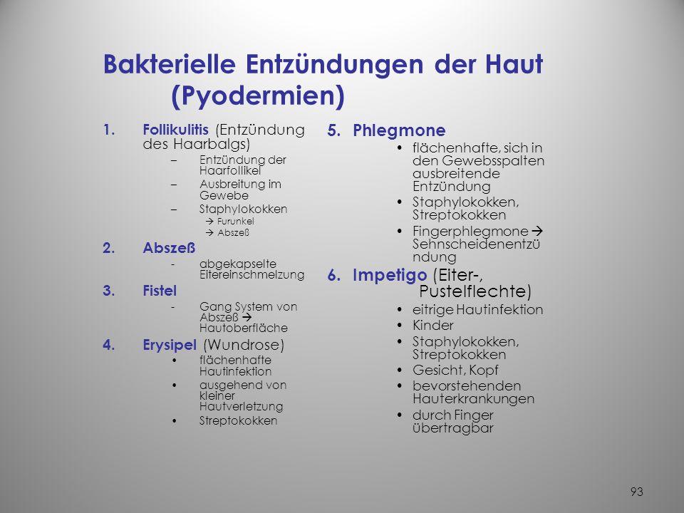 Bakterielle Entzündungen der Haut (Pyodermien)