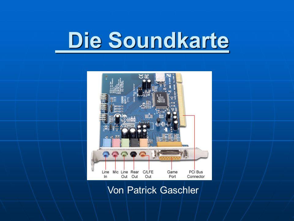 Die Soundkarte Von Patrick Gaschler