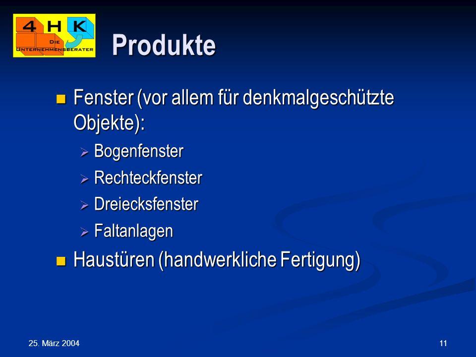 Produkte Fenster (vor allem für denkmalgeschützte Objekte):