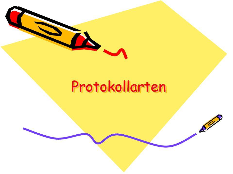 Protokollarten