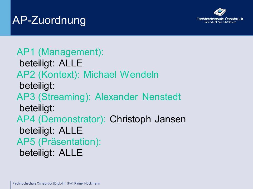 AP-Zuordnung AP1 (Management): beteiligt: ALLE
