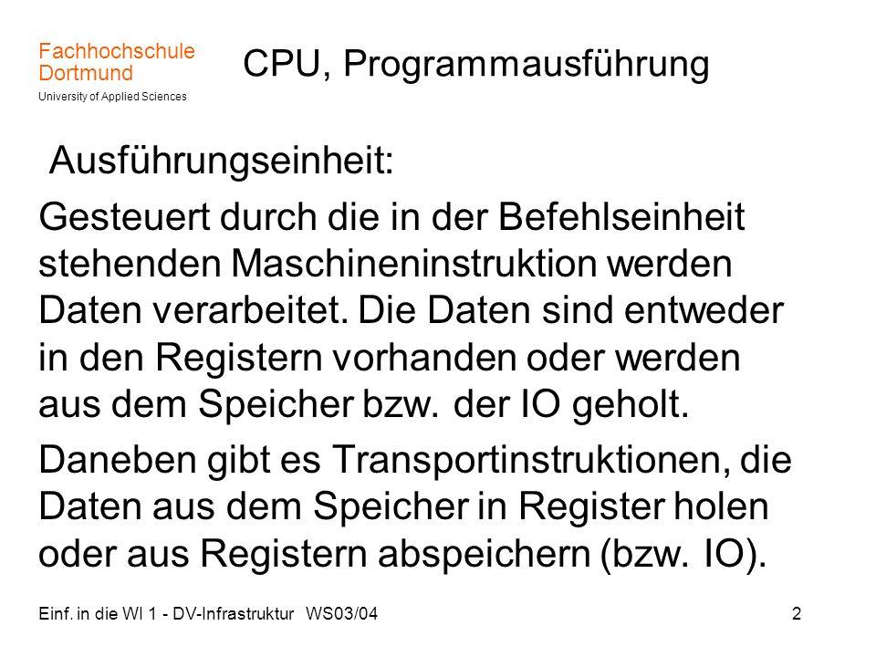 CPU, Programmausführung